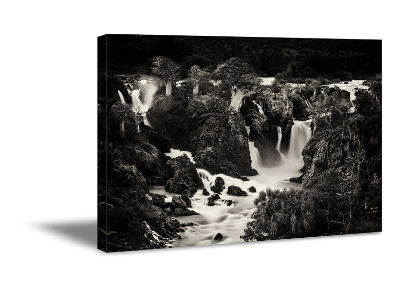 Black and white landscape canvas wall art print. Fine art nature photography