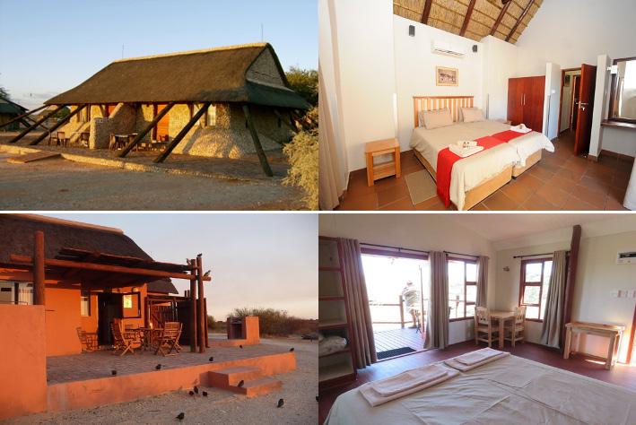 Accommodation showing chalet for the Wildlife Photo Tour to Kalahari Park